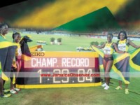 Golden record for Jamaica 4x200m ladies at World Relays