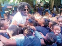 Dancehall Star Aidonia gives back to students