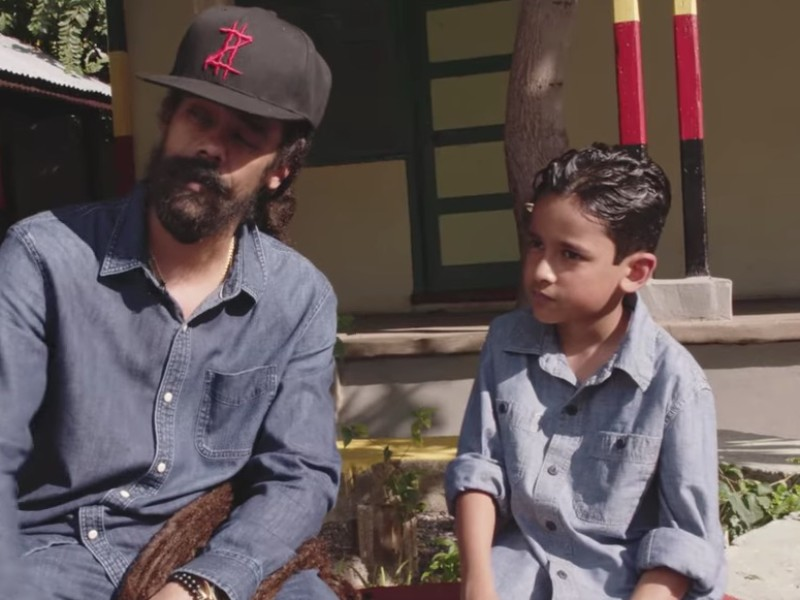 "Damian Marley Takes His Son On A Musical Journey In ""Living It Up"" Video"