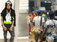 Dancehall Artiste Popcaan Kiss The Ground As He Arrives In Ghana Like A Dancehall Hero