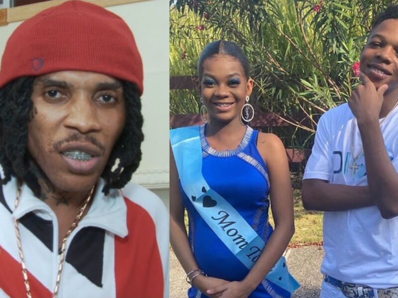 Vybz Kartel Congratulates 16-Year-Old Son Likkle Addi Who Has A Baby On The Way (Pictures)