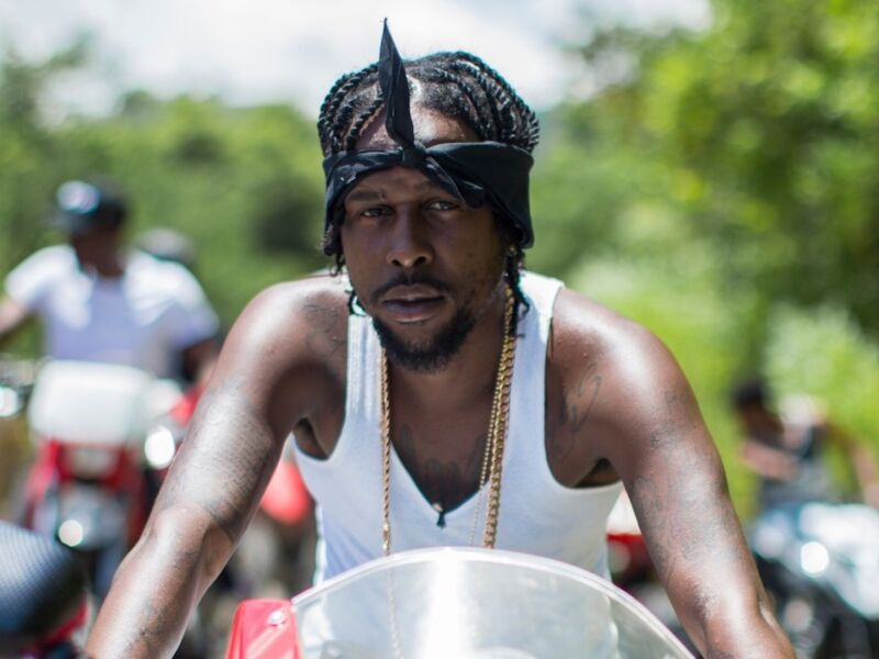 Popcaan Takes a Fall Of His Dirt Bike While Shooting A Music Video