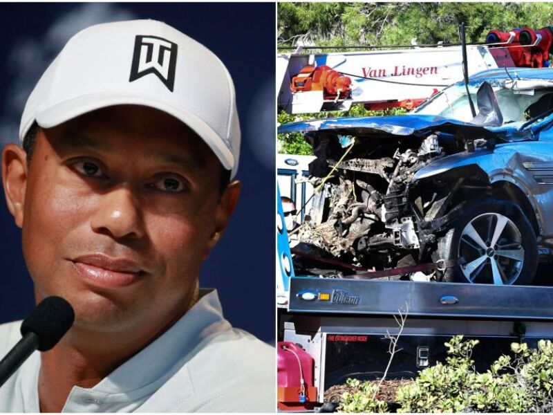 Tiger Woods ON CRUTCHES Recovering From Terrible Car Crash